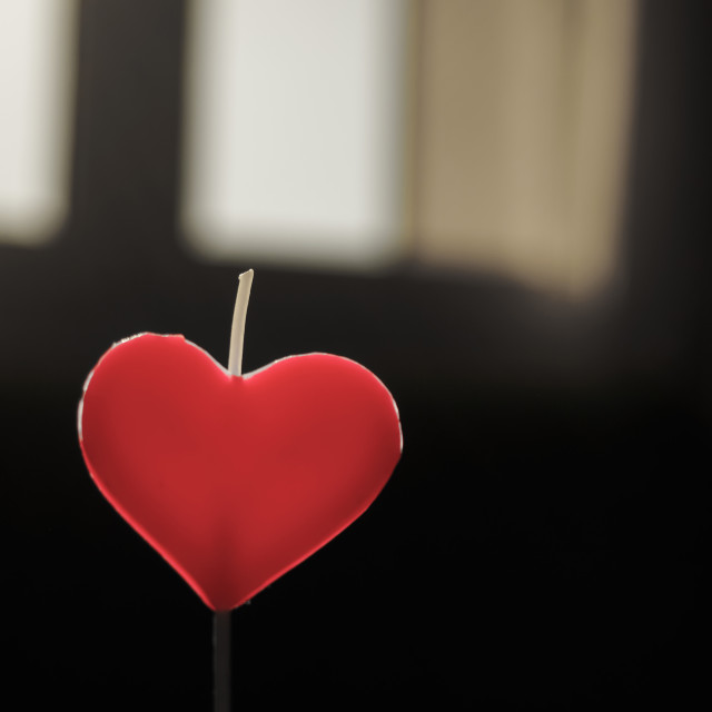 """""""Heart shaped candle"""" stock image"""