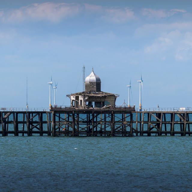 """""""Derelict Pier"""" stock image"""