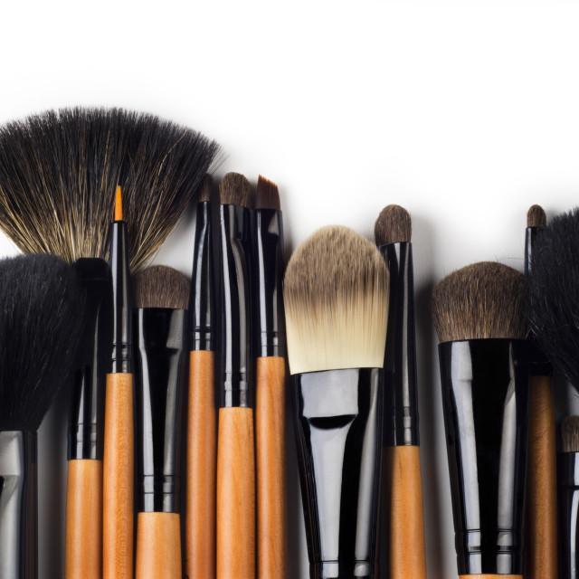 """""""Professional make-up brush"""" stock image"""
