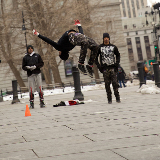 """New York Breakdancer"" stock image"