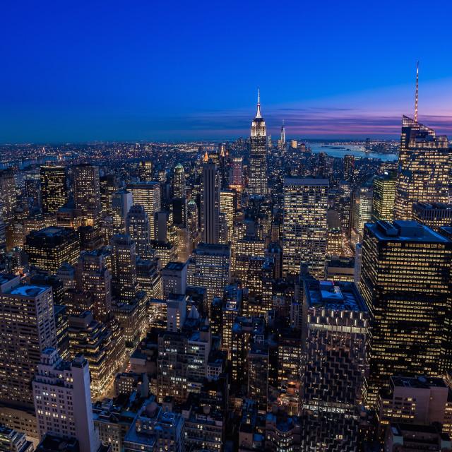 """""""Manhattan Blue Hour"""" stock image"""