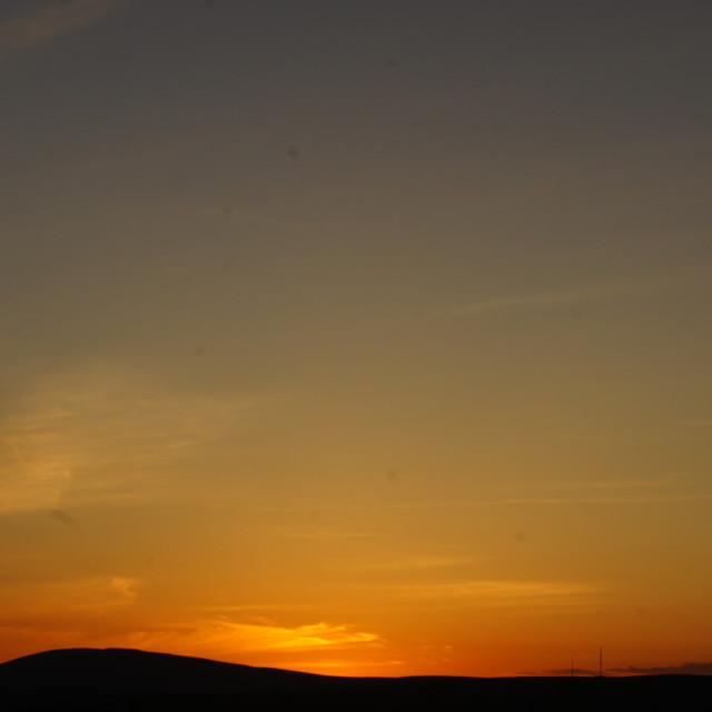 """Cumbrian twilight 1"" stock image"