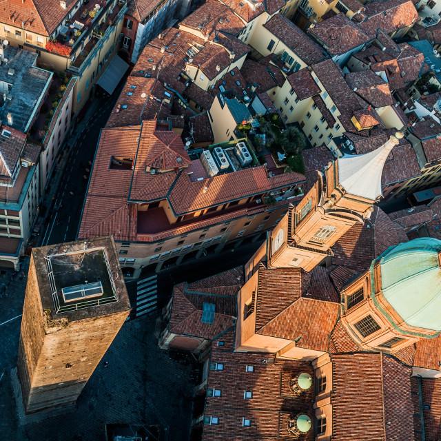 """Piazza Ravegnana"" stock image"