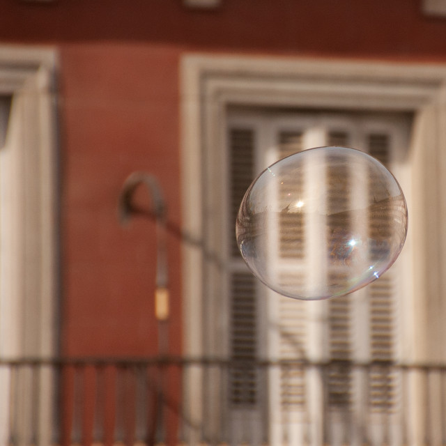 """""""Flying Soap Bubble"""" stock image"""