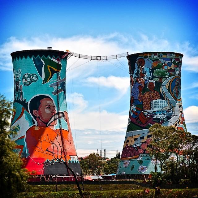 """""""Nuclear Silos, Johannesburgo"""" stock image"""