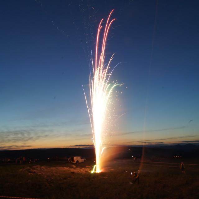 """Diamond Jubilee fireworks 8"" stock image"