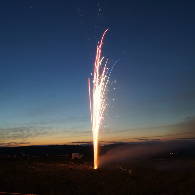 """Diamond Jubilee fireworks 9"" stock image"