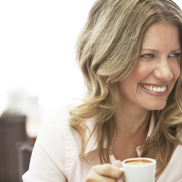 """Woman Having Coffee"" stock image"