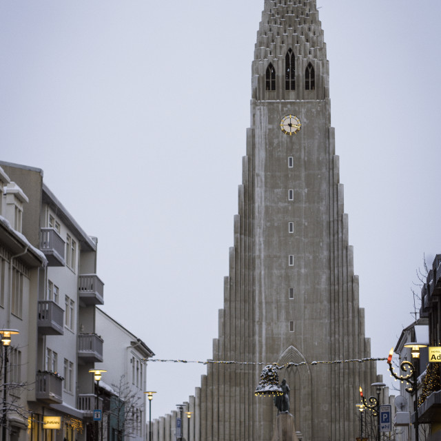 """Hallgrimskirkja in Reykjavik, Iceland"" stock image"