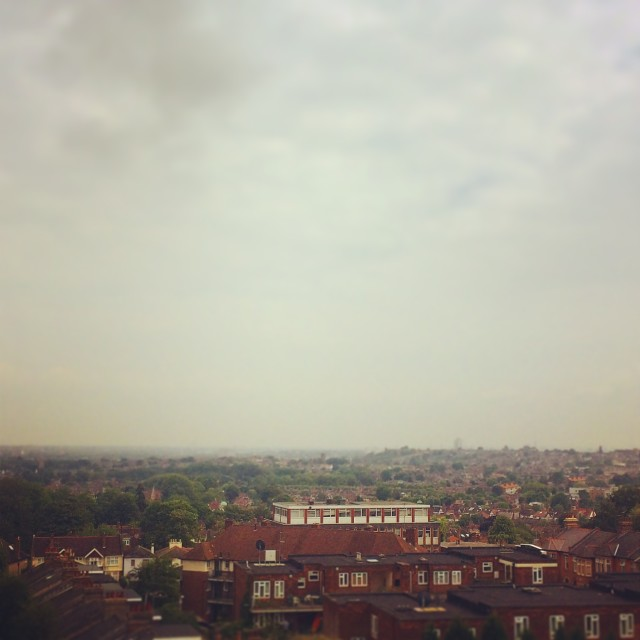"""""""North London from above"""" stock image"""