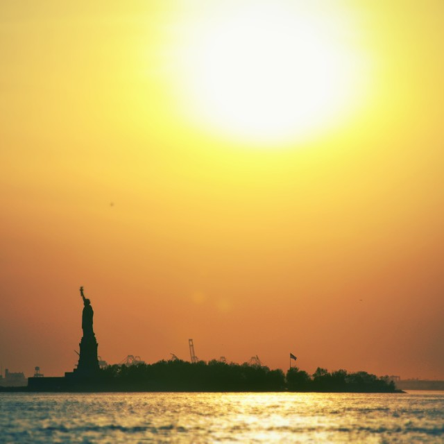 """Liberty Island"" stock image"