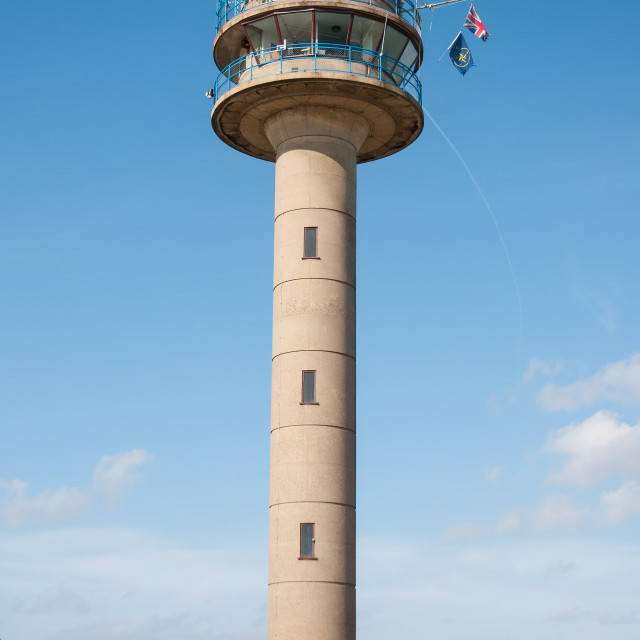 """Calshot Lookout Tower"" stock image"