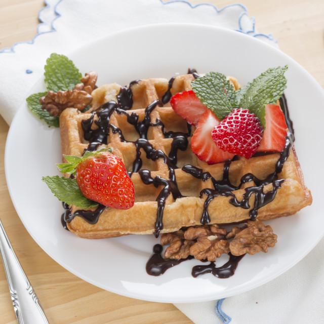 """Delicious waffle"" stock image"