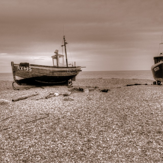 """""""Old Boats"""" stock image"""