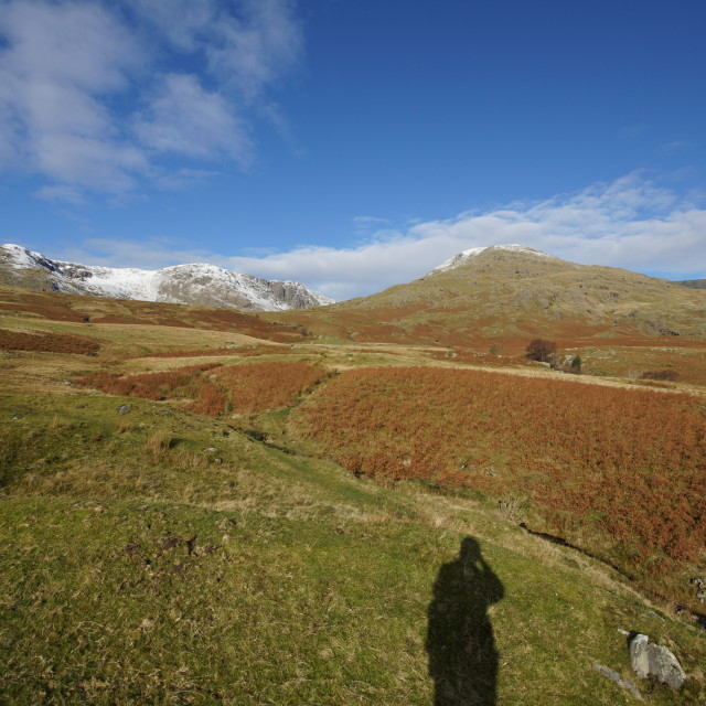 """The old man of Coniston and Torver fell"" stock image"