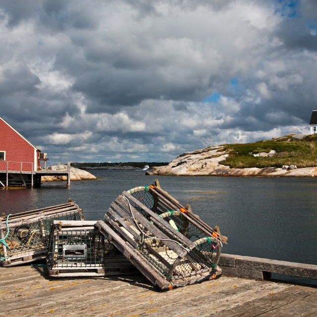 """Lobster Traps"" stock image"
