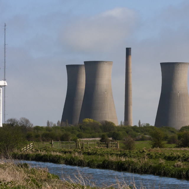 """Richborough Power Station"" stock image"