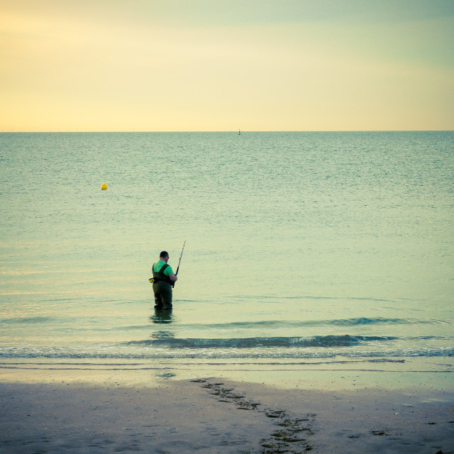 """Beach Fishing"" stock image"