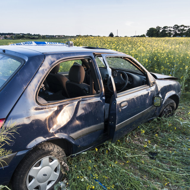 """Abandoned Vehicle"" stock image"
