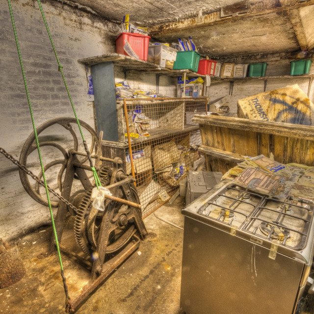 """Disused store room"" stock image"