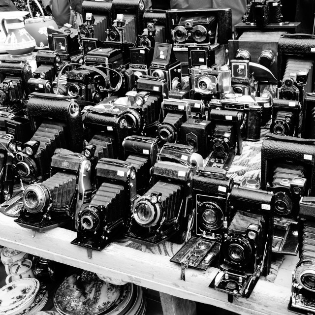 """Antique Cameras Portobello Road Market"" stock image"