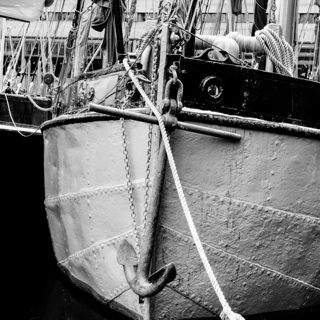 """Anchor, St Katherine Docks"" stock image"