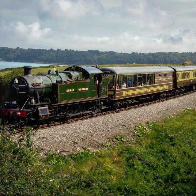 """Goliath Train, Torquay Devon"" stock image"