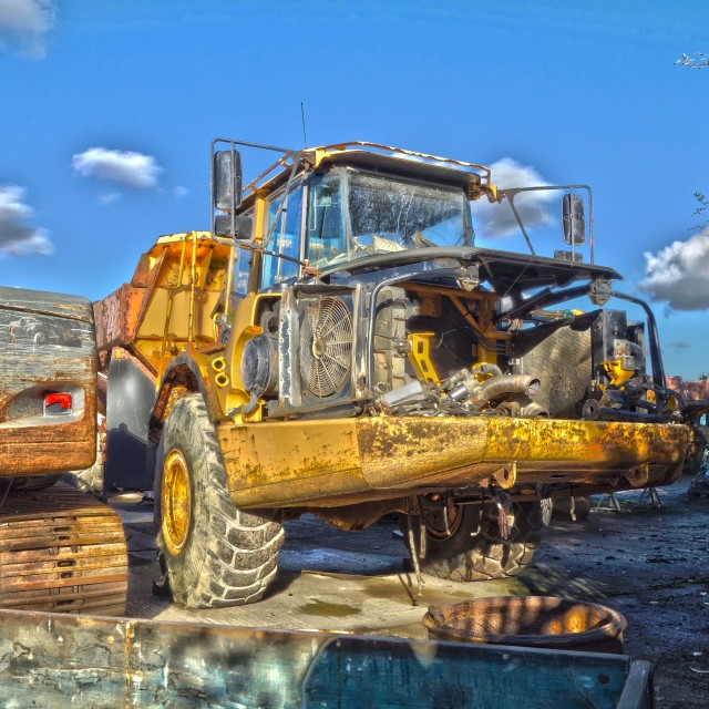 """""""Volvo scrapped HDR"""" stock image"""