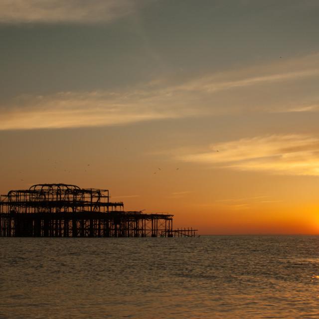 """Brighton's Old Pier"" stock image"
