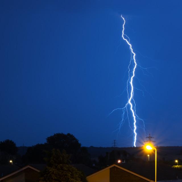"""Lightning Strikes!"" stock image"