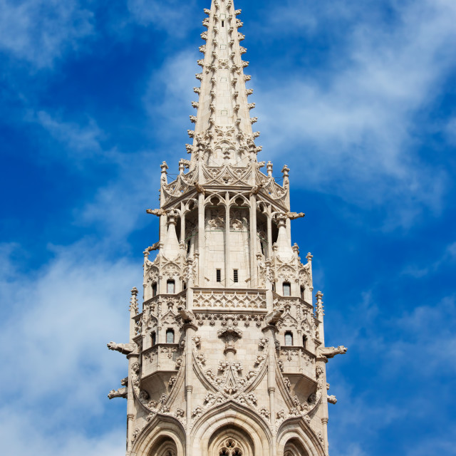 """""""Matthias Church Bell Tower in Budapest"""" stock image"""