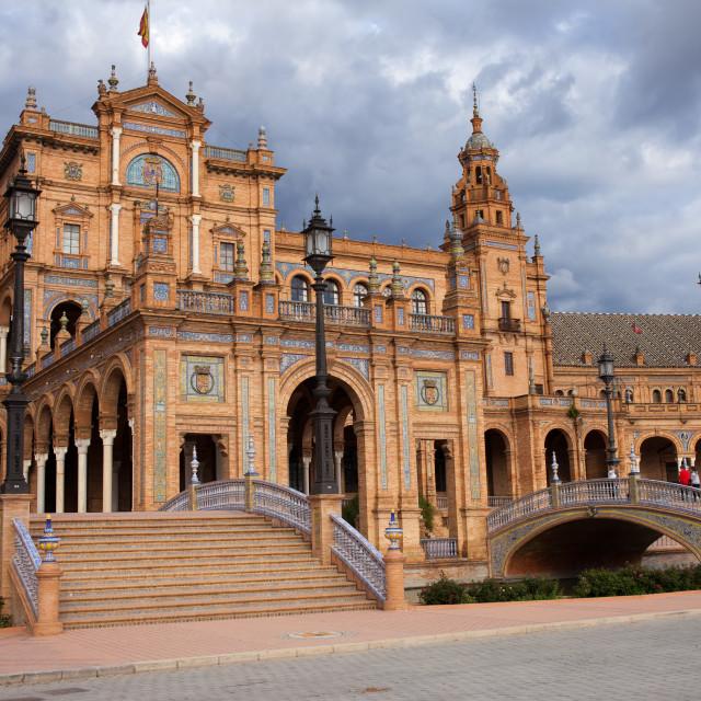 """Plaza de Espana Pavilion in Seville"" stock image"