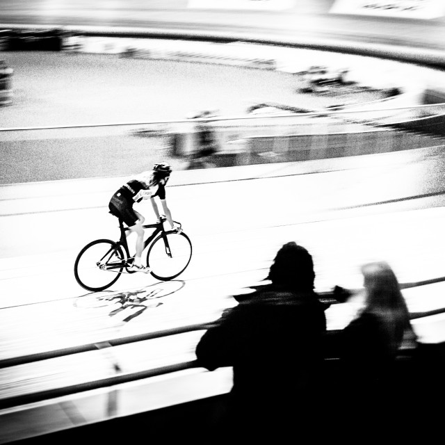 """watching the cycling"" stock image"