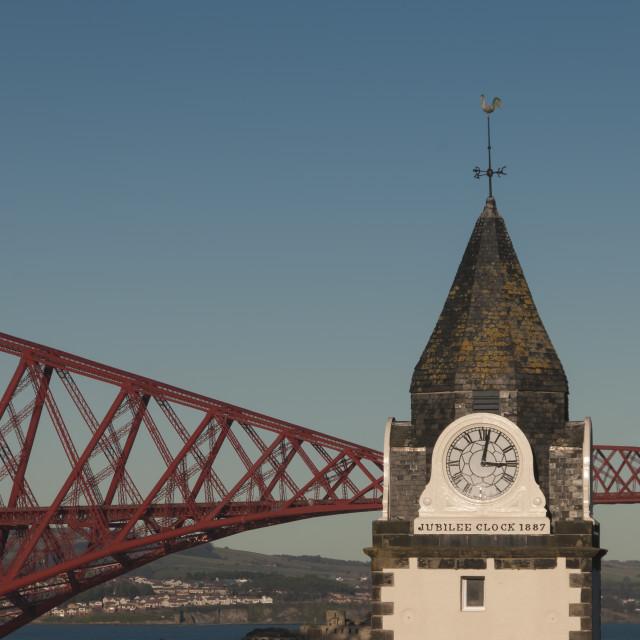 """Queensferry Clock"" stock image"