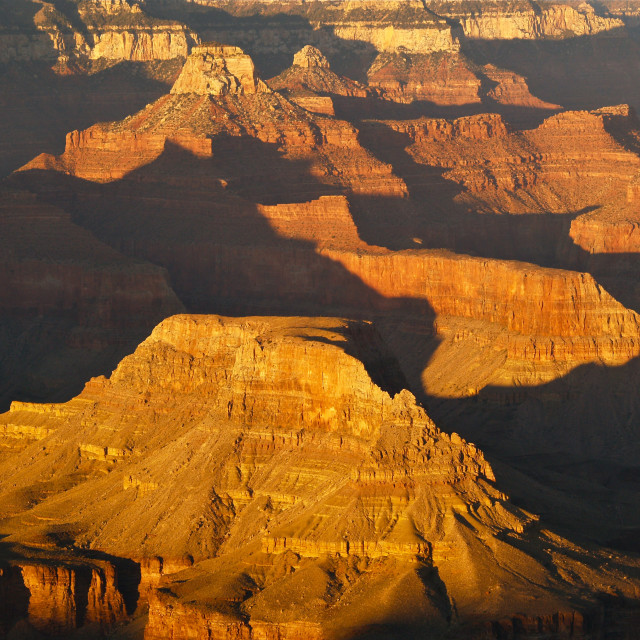 """Grand Canyon Glow"" stock image"