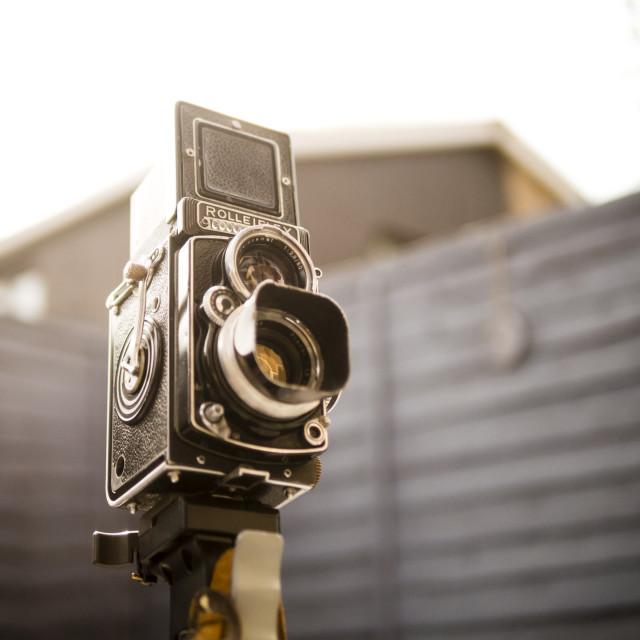 """Rolleiflex Twin Lens Reflex Camera"" stock image"