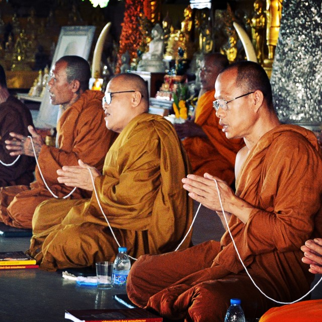 """Monk, Thailand"" stock image"