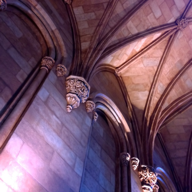"""Romanesque architecture interior"" stock image"