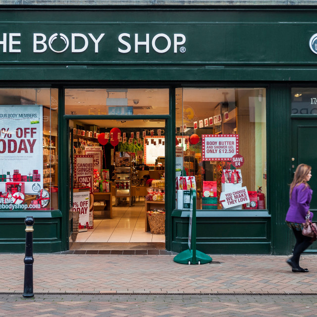 """The Body Shop"" stock image"