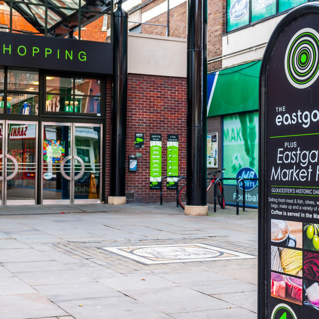 """The Eastgate Shopping Centre"" stock image"