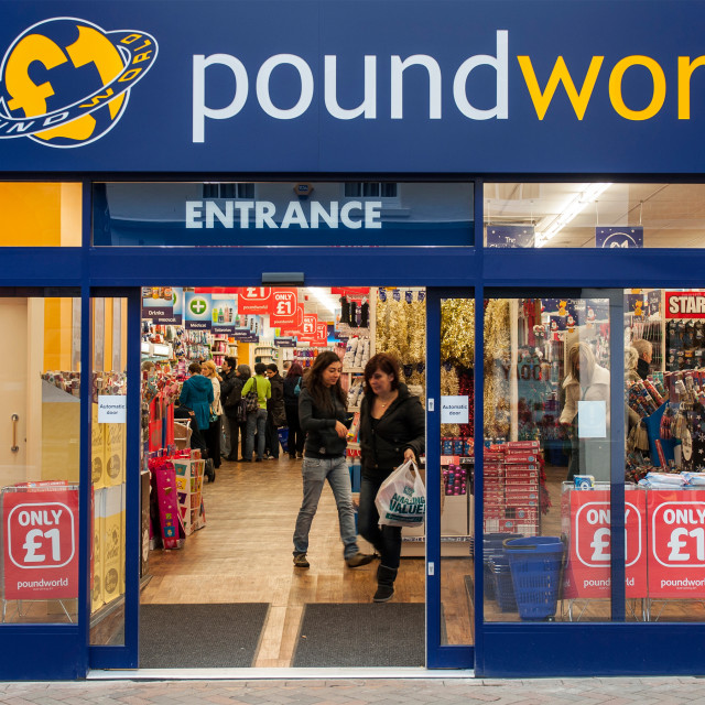 """Poundworld"" stock image"
