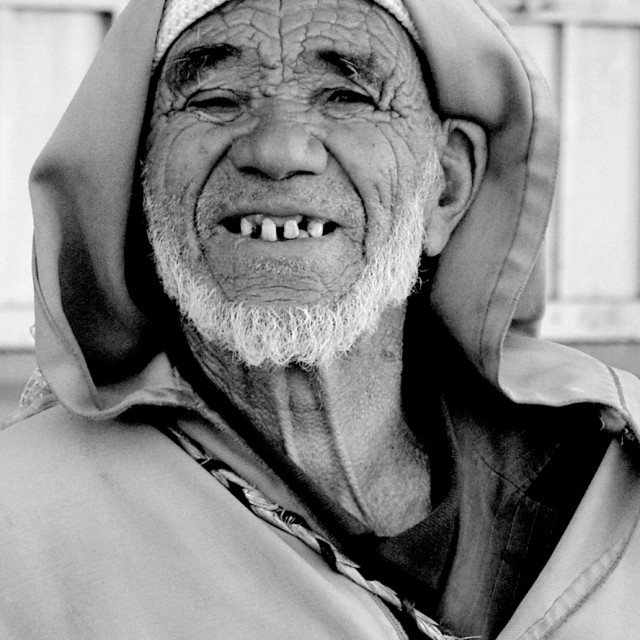 """""""old man in ouarzazate"""" stock image"""
