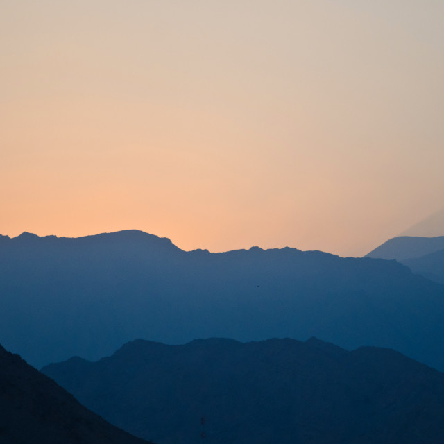 """""""Early morning light at Dibba."""" stock image"""