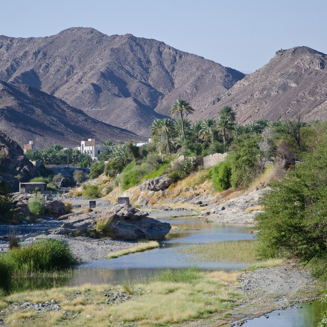 """River bed, Bahla Fort, Oman"" stock image"