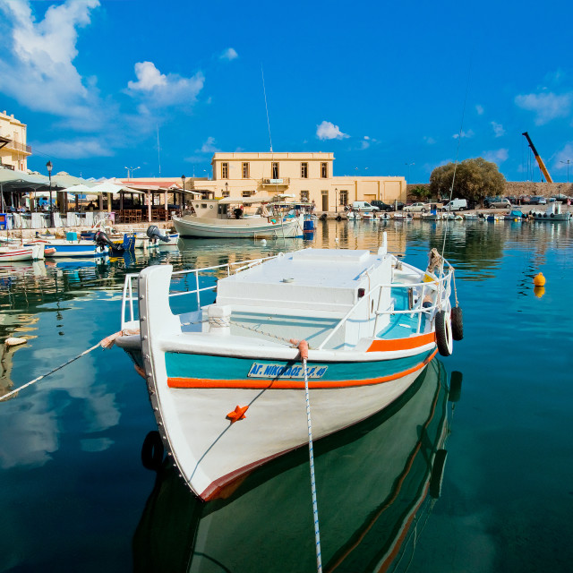 """Old Harbour, Rethymno, Crete"" stock image"