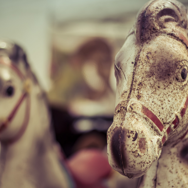 """Rusted Tin Vintage Horse Toys"" stock image"