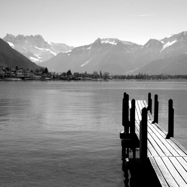 """Mountain Jetty"" stock image"