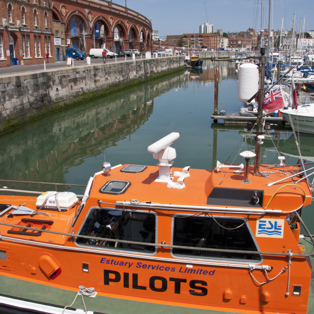 """Pilot Boat at Ramsgate Harbour"" stock image"