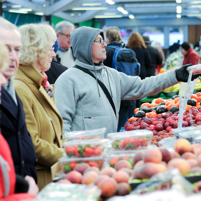 """""""Leicester Market ,UK."""" stock image"""