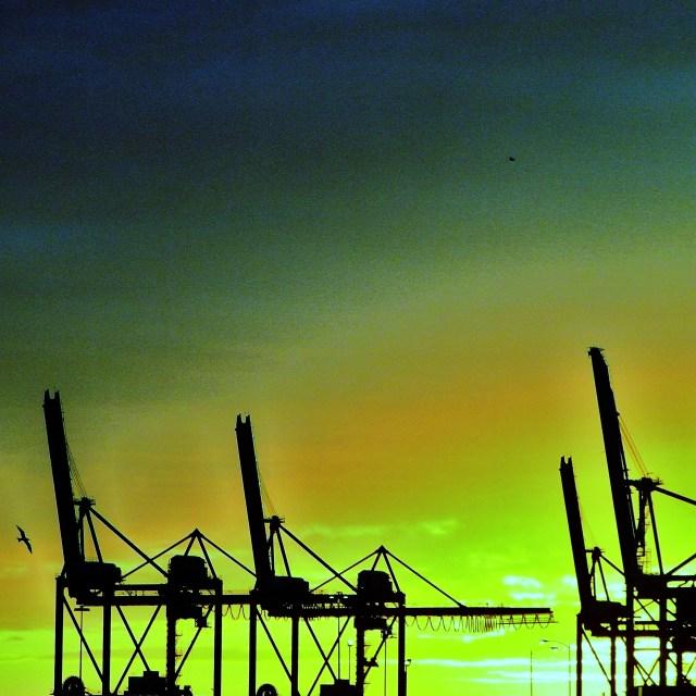 """Crane Silhouette"" stock image"